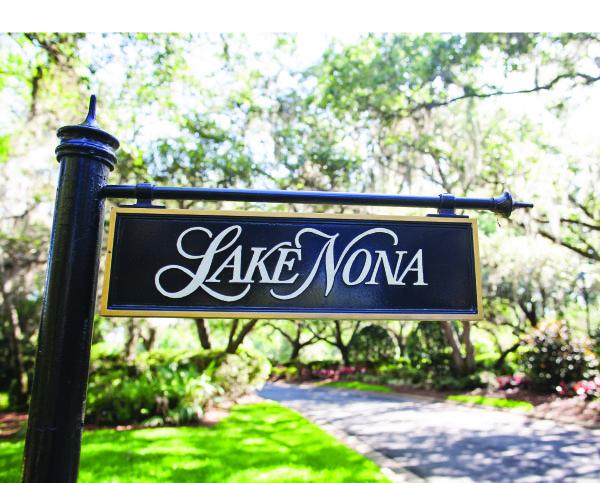lake nona street sign