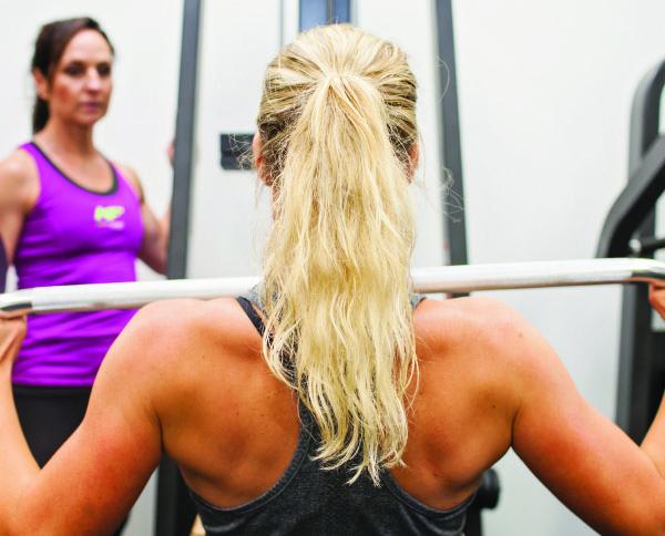 woman's back workout