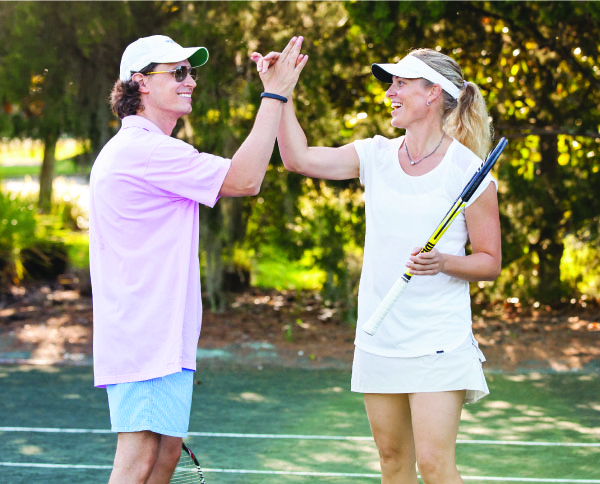 tennis high five
